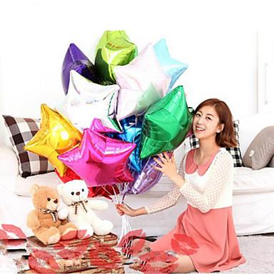 şekilli 10 inç balon yıldız düğün büyük alüminyum folyo balonlar hediye doğum günü balon parti dekorasyon topu rastgele renk 10pcs iki