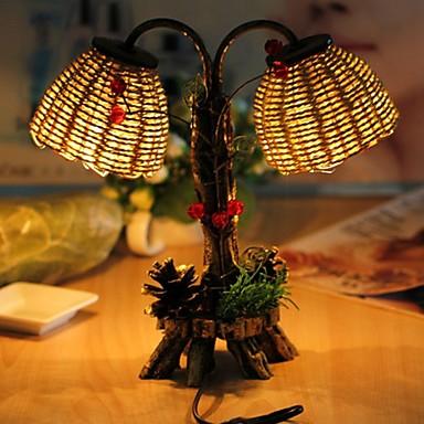 1szt doprowadziły wielokolorowe urodziny Pamiątki newfangled wielofunkcyjny słomy plecione artykule lampka nocna