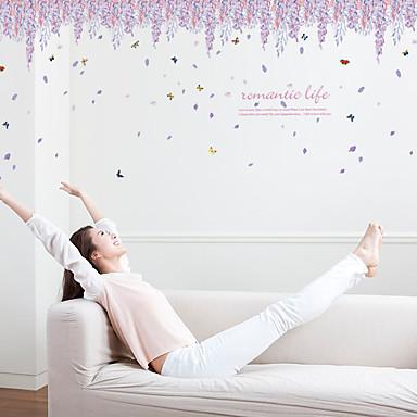 Dekoracyjne naklejki ścienne - Naklejki ścienne lotnicze Romans / Moda / Wzory roślinne Living Room / Sypialnia / Jadalnia
