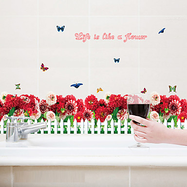 Sözler ve Alıntılar Moda Çiçekler Duvar Etiketler Uçak Duvar Çıkartmaları Dekoratif Duvar Çıkartmaları,Kağıt Malzeme Ev dekorasyonuDuvar