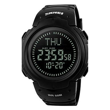 للرجال ساعة رقمية ساعة المعصم ساعة رياضية رقمي المنبه رزنامه مقاوم للماء LED ساعة التوقف LCD كومباس مطاط فرقة ترف كوول أسود أخضر