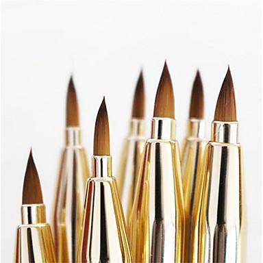 1pcs Profesyonel Makyaj fırçaları Dudak Fırçası Sentetik Saç Bakterileri Kısıtlar Metal Dudak Küçük Fırça