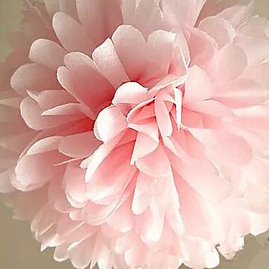 10pcs 25 εκατοστά * 25 εκατοστά φτηνές μπάλες λουλούδι χαρτί για το σπίτι του γάμου χειροτεχνία διακόσμηση κόμμα αυτοκίνητο