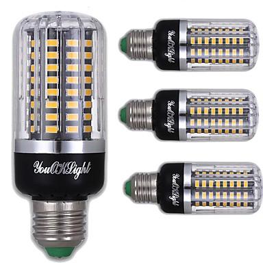 E26/E27 Becuri LED Corn T 100 led-uri SMD 5736 Decorativ Alb Cald 900lm 3000K AC 220-240V