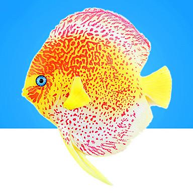 Akvaryum Dekorasyonu Yapay Balık Gece Parlayan Silikon