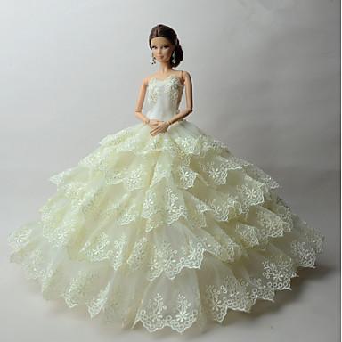 Impreza/Wieczór Sukienki Dla Lalka Barbie Sukienki Dla Dziewczyny Lalka Zabawka