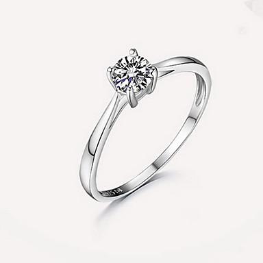 Δαχτυλίδι απομίμηση διαμαντιών Μοντέρνα Ασημί Κοσμήματα Γάμου Αρραβώνας Καθημερινά Causal 1pc