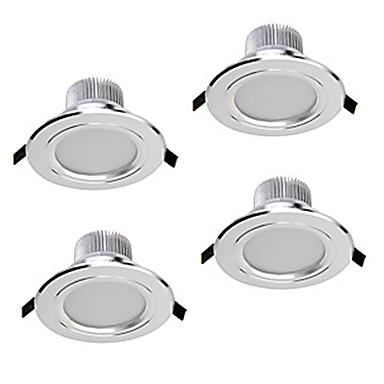 ZDM® 4szt 5W 400-450lm 5 Diody LED Przysłonięcia Oświetlenie downlight LED Ciepła biel Zimna biel Naturalna biel AC110 AC220 AC 12V