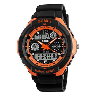 Męskie Sportowy Zegarek na nadgarstek Zegarek cyfrowy Kwarcowy Cyfrowe Kwarc japoński Alarm Kalendarz Wodoszczelny LED Dwie strefy