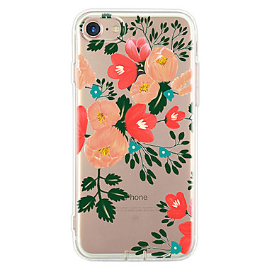Käyttötarkoitus iPhone 7 iPhone 7 Plus iPhone 6 kotelot kuoret Ultraohut Kuvio Takakuori Etui Kukka Pehmeä TPU varten Apple iPhone 7 Plus