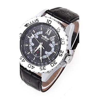 Męskie Sportowy Do sukni/garnituru Modny Zegarek na nadgarstek zegarek mechaniczny Nakręcanie automatyczne Skóra naturalna Pasmo Z