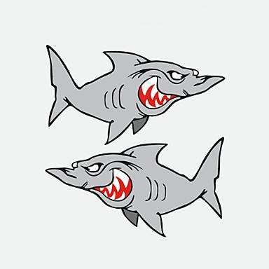 grappige haai auto sticker autoraam muurstickers auto styling 2 stuks