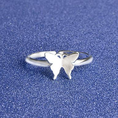 Yüzükler Özel Anlar Günlük Mücevher alaşım Gümüş Kaplama Yüzük Midi Yüzükler Evlilik Yüzükleri 1pc,Tek Beden Gümüş