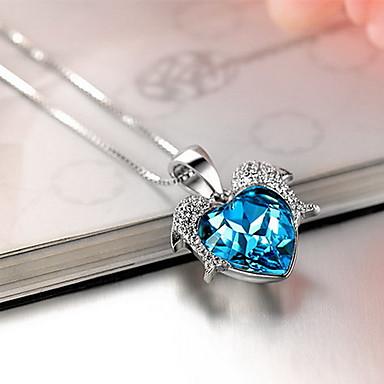 Kolye Uçları Kristal Som Gümüş Avusturya Kristali Basic Tasarım Moda lüks mücevher Mücevher Uyumluluk Günlük