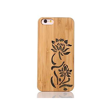 Pouzdro Uyumluluk iPhone 6s iPhone 6 Apple Şoka Dayanıklı Süslü Temalı Arka Kapak Çiçek Sert Bambu için