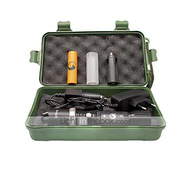 U'King ZQ-X940 LED taskulamput LED 1000LM lm 5 Tila LED Akulla ja latureilla Zoomable Säädettävä fokus Ladattava Kompakti koko Helppo