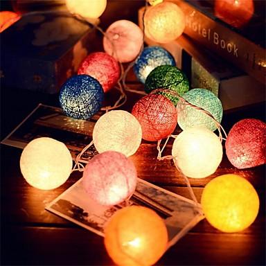 2.5m 20leds rattan ciąg piłka Lampiony ślubnej dekoracji partii hot use ozdoba ogrodu kolorowe światła bajki