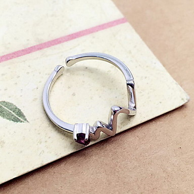 Yüzük Değerli Taş minimalist tarzı Gümüş Mücevher Günlük 1pc