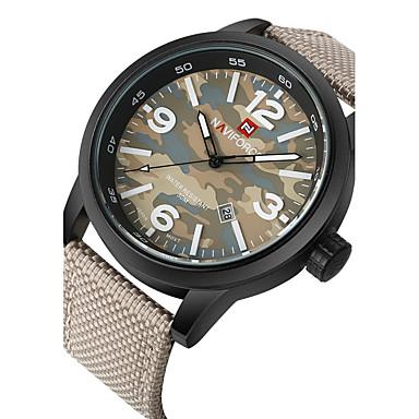 5ebb6f9bd رخيصةأون ساعات الرجال-NAVIFORCE رجالي ساعة رياضية ساعة عسكرية ساعة المعصم  كوارتز أسود / أخضر