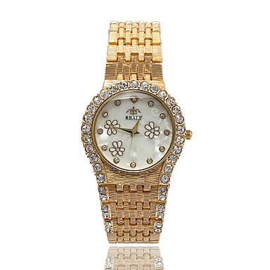 Damskie Sztuczny Diamant Zegarek Modny Na codzień Kwarcowy sztuczna Diament Stop Pasmo Kwiat Srebro Złoty Różowe złoto