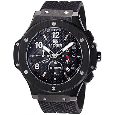 MEGIR Ανδρικά Μοδάτο Ρολόι Ρολόι Καρπού Αθλητικό Ρολόι Στρατιωτικό Ρολόι Χαλαζίας Ημερολόγιο Ελβετός Υψηλής Ποιότητας Νυχτερινή λάμψη