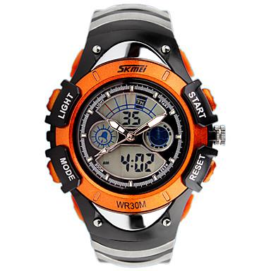 Męskie Sportowy Modny Zegarek na nadgarstek Zegarek cyfrowy Kwarcowy Cyfrowe Kalendarz Silikon Pasmo Z Wisorkami Na co dzień Ekskluzywne