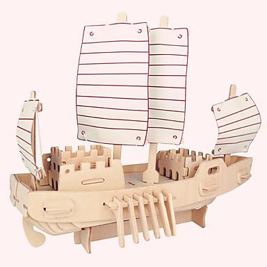 παζλ Ξύλινα παζλ Δομικά στοιχεία DIY παιχνίδια Διάσημο κτίριο Κινεζική αρχιτεκτονική Πλοίο Σπίτι 1 Ξύλο Κρύσταλλο Μοντελισμός & Κατασκευές