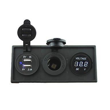 12V / 24V السلطة charger3.1a منفذ USB و12V مقياس الفولتميتر مع لوحة حامل السكن للقارب سيارة شاحنة رف