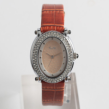 Ceas La Modă Quartz / imitație de diamant PU Bandă Casual Maro Maro