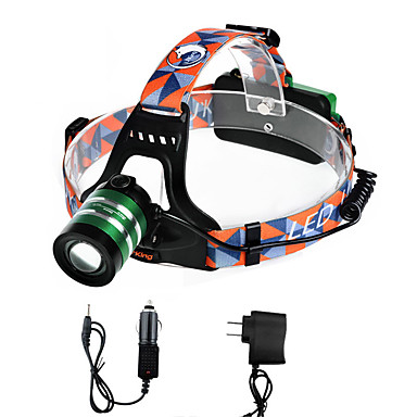 U'King Kafa Lambaları Far LED 2000 lm 3 Kip Cree XM-L T6 Şarj Aletleri ile Zoomable Ayarlanabilir Fokus Kolay Taşınır Yüksek Güçlü
