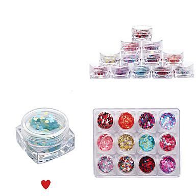12 väri täynnä kynsien vinkkejä kynsien koristeet harmoniaan pieniä paljetteja rakkaus
