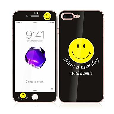 iPhone 7 plus 5,5 karkaistua lasia pehmeällä reunalla koko näytön kattavuuden edessä ja takana näytön suojus hymy kuvio
