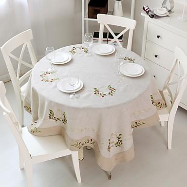 Rotund Pătrat Brodat Fețe de masă , In MaterialCina Decor Favor Decorațiuni de Casă Hotelul masă Nunta decorare Party Cina conferință de