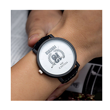 저렴한 남성용 시계-남성용 스포츠 시계 석영 30 m 별이 빛나는 / 가죽 밴드 아날로그-디지털 빈티지 블랙 / 브라운 - 화이트 블랙 브라운