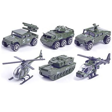 Samochodziki do zabawy zestawy do zabawy zawierające pojazdów Pojazd wojskowy Radiowóz Zabawki Samochód Helikopter Metal Plastikowy