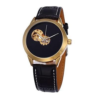 Bărbați ceas mecanic Ceas de Mână Ceas Schelet Ceas Elegant  Ceas La Modă Ceas Sport Mecanism automat cald Vânzare Piele Autentică Bandă