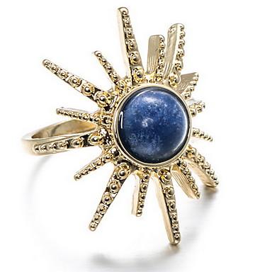 Damskie Pierscionek euroamerykańskiej Modny luksusowa biżuteria Kamień szlachetny Pozłacane Turkusowy Stop Biżuteria Na Codzienny