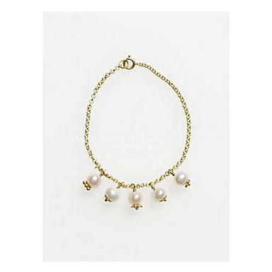 Βραχιόλια με Αλυσίδα & Κούμπωμα Μοντέρνα χαριτωμένο στυλ Μαργαριτάρι Κράμα Κοσμήματα Χρυσό Κοσμήματα Για Γενέθλια Χριστουγεννιάτικα δώρα