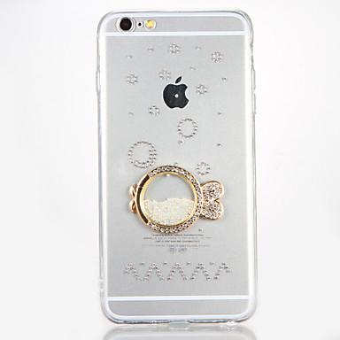 غطاء من أجل Apple iPhone 7 / iPhone 7 Plus حجر كريم / اصنع بنفسك غطاء خلفي كارتون قاسي أكريليك إلى iPhone 7 Plus / iPhone 7 / iPhone 6s