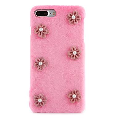 Için Taşlı Kendin-Yap Pouzdro Arka Kılıf Pouzdro Çiçek Sert Tekstil için Apple iPhone 7 Plus iPhone 7 iPhone 6s Plus/6 Plus iPhone 6s/6