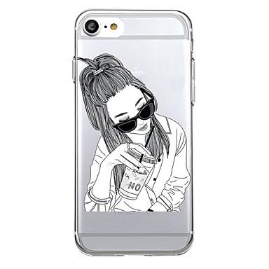 Kılıf Na Apple Ultra cienkie Przezroczyste Etui na tył Seksowna dziewczyna Miękkie TPU na iPhone 7 Plus iPhone 7 iPhone 6s Plus iPhone 6s