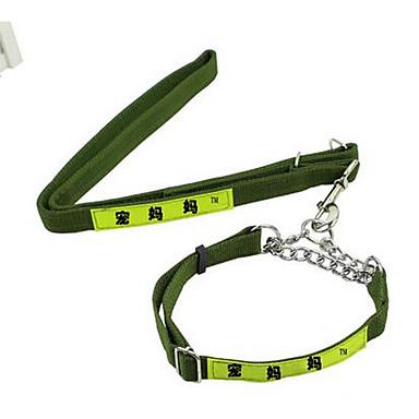 Pies Obroże Smycze Korygujący / Wysuwany Bezpieczeństwo Jendolity kolor Nylon Green