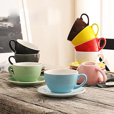 Minimalizm Bardak Takımı, 300 ml Modellendirme Seramik Çay Meyve suyu Kahve Kupaları