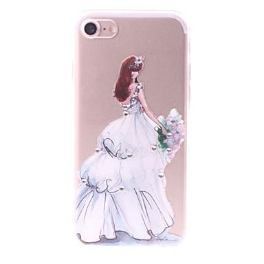 Pentru Stras Model Reparații Maska Carcasă Spate Maska Femeie Sexy Moale TPU pentru AppleiPhone 7 Plus iPhone 7 iPhone 6s Plus iPhone 6