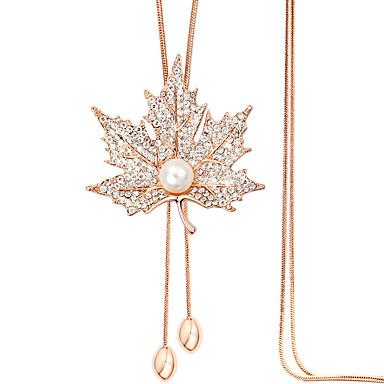 Γυναικεία Leaf Shape Σχήμα Μοντέρνα Κρεμαστά Κολιέ Στρας Κράμα Κρεμαστά Κολιέ Causal Κοστούμια Κοσμήματα