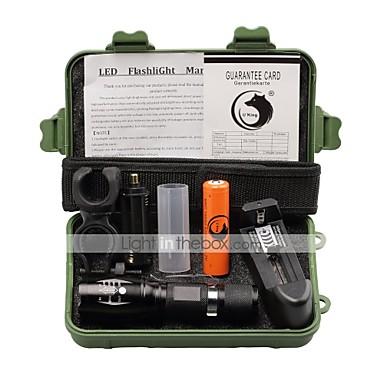 U'King Lanterne LED LED 2000 lm 5 Mod LED Cu Baterie și Încărcător Zoomable Focalizare Ajustabilă Clip Camping/Cățărare/Speologie