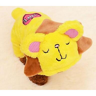 Σκύλος Παλτά Ρούχα για σκύλους Χαριτωμένο Κινούμενα σχέδια Κίτρινο Μπλε Ροζ Στολές Για κατοικίδια