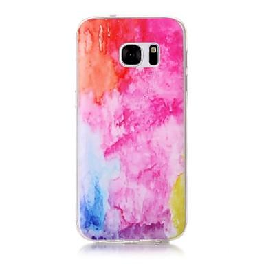 Pouzdro Uyumluluk Samsung Galaxy S7 edge S7 Şeffaf Temalı Arka Kapak Renkli Gradyan Yumuşak TPU için S7 edge S7