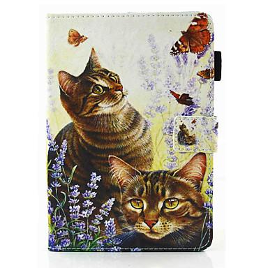 Pentru Titluar Card Cu Stand Întoarce Magnetic Maska Corp Plin Maska Pisica Greu PU piele pentru Apple iPad Air 2 iPad Air