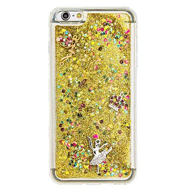 Pouzdro Uyumluluk Apple Akan Sıvı Kendin-Yap Arka Kılıf Işıltılı Parlak Yumuşak TPU için iPhone 7 Plus iPhone 7 iPhone 6s Plus iPhone 6